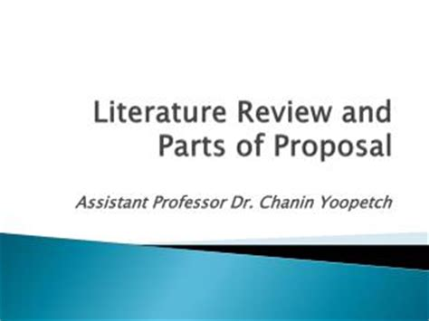 Preparation of literature review